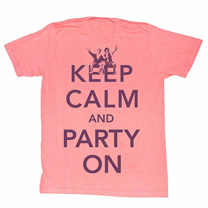 Bill And Ted Party Orange Tee Shirt