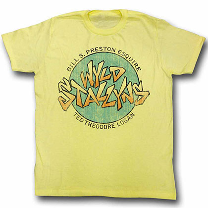 Bill And Ted Stallyns Yellow  Tee Shirt