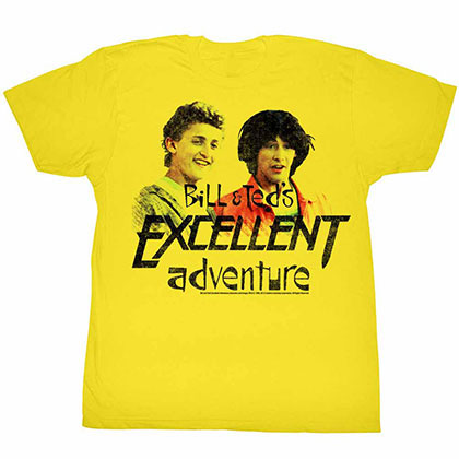 Bill And Ted Dudes Yellow Tee Shirt