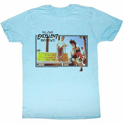 Bill And Ted Rock Sesh Blue Tee Shirt