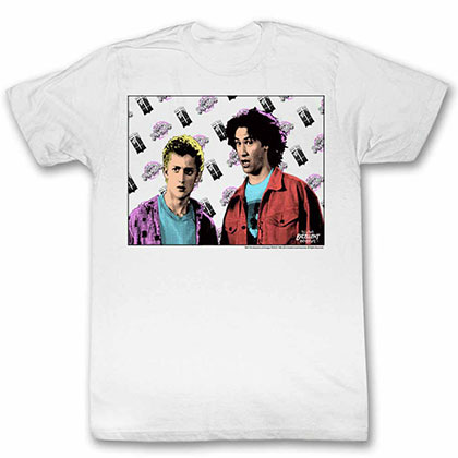 Bill And Ted Flyin White Tee Shirt