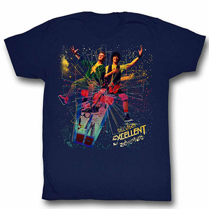 Bill And Ted Space Blue Tee Shirt