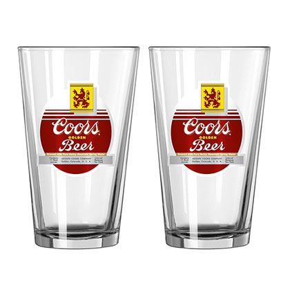 Coors 2-Pack Vintage Pint Glasses