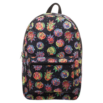Rick And Morty Black Cosmic All Over Print Backpack