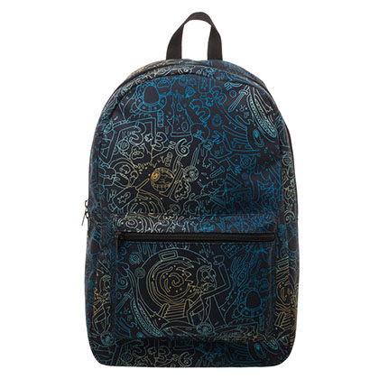 Rick And Morty Black Psycho All Over Print Backpack