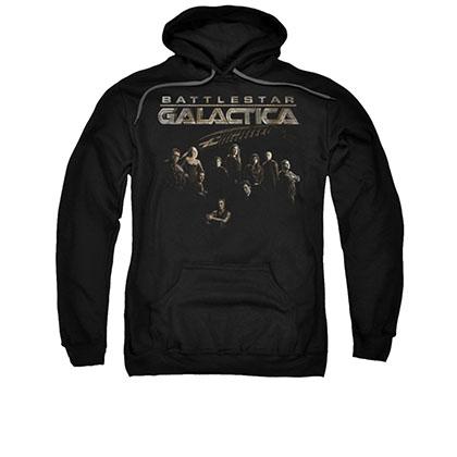 Battlestar Galactica Battle Cast Black Pullover Hoodie