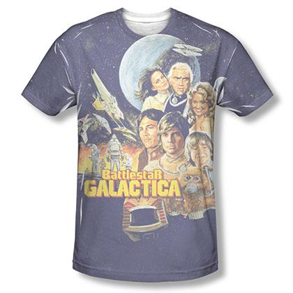 Battlestar Galactica Vintage Poster Sublimation T-Shirt