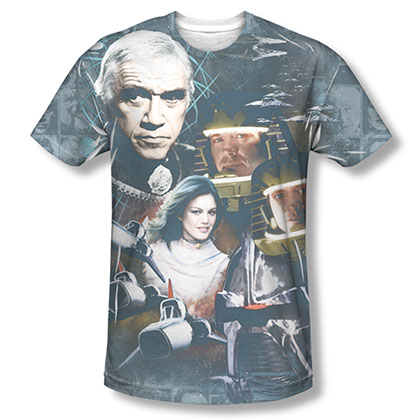 Battlestar Galactica Collage Sublimation T-Shirt