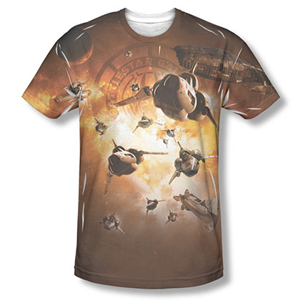 Battlestar Galactica Dog Fight Sublimation T-Shirt