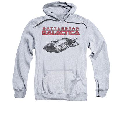 Battlestar Galactica Ship Logo Gray Pullover Hoodie