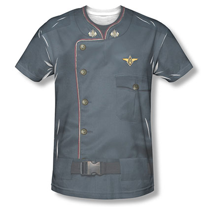 Battlestar Galactica Duty Blue Costume Sublimation T-Shirt