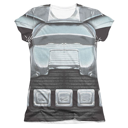 Battlestar Galactica Cylon Armor Juniors Sublimation Costume Tee Shirt