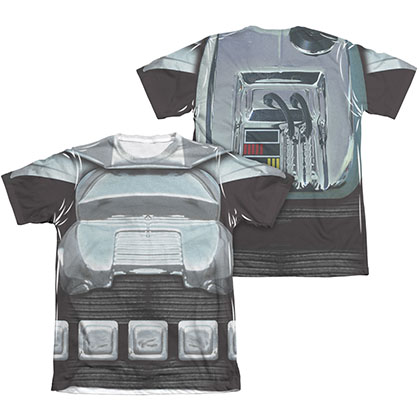 Battlestar Galactica Two-Sided Sublimation Classic Cylon Costume Tee Shirt