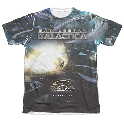 Battlestar Galactica Battle Seat Men's Sublimation Tee Shirt