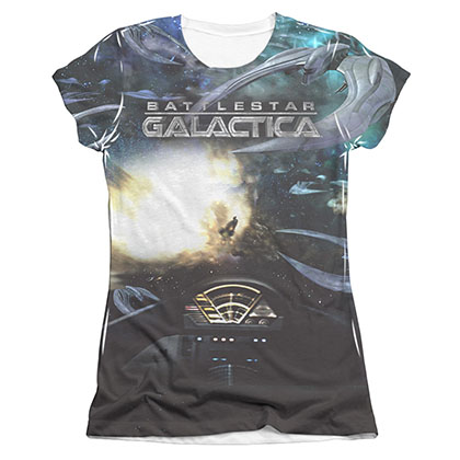 Battlestar Galactica Battle Seat Juniors Sublimation Tee Shirt