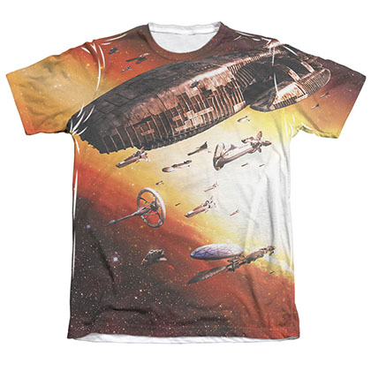 Battlestar Galactica Fleet Of Humanity Men's Sublimation Tee Shirt