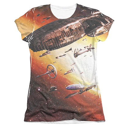 Battlestar Galactica Juniors Sublimation Fleet Of Humanity Tee Shirt