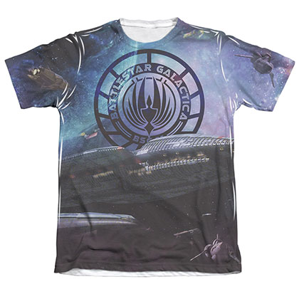 Battlestar Galactica Star Cruising Men's Sublimation Tee Shirt