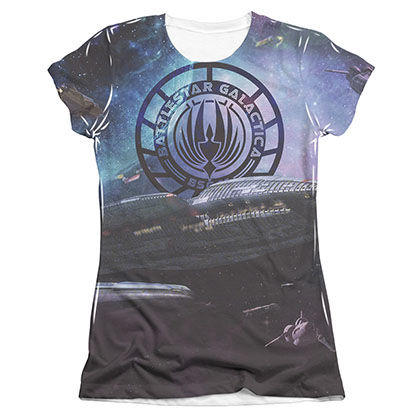 Battlestar Galactica Star Cruising Sublimation Juniors Tee Shirt