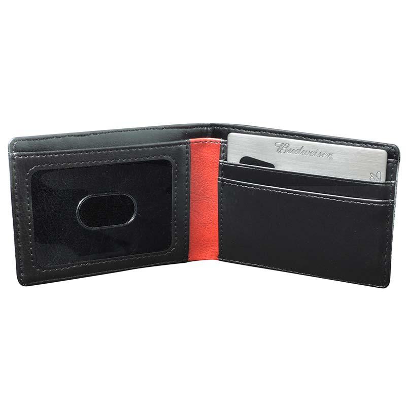 Budweiser Black Slim-Fold ID Wallet