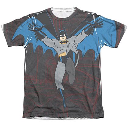 Batman Animated Series Leap Sublimation T-Shirt