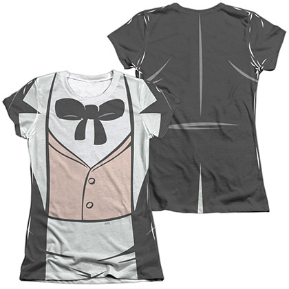 Batman Animated Series Penguin Costume Sublimation Juniors T-Shirt