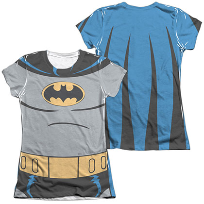 Batman Animated Series Costume Sublimation Juniors T-Shirt