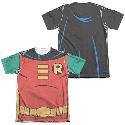 Batman Animated Series Robin Costume Sublimation T-Shirt