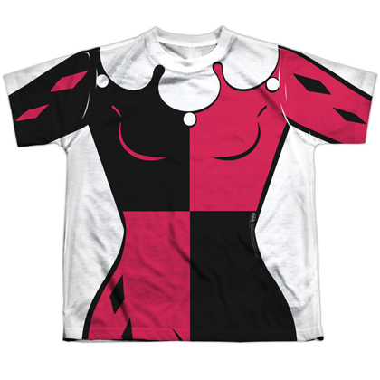 Harley Quinn Uniform Youth Costume Tee