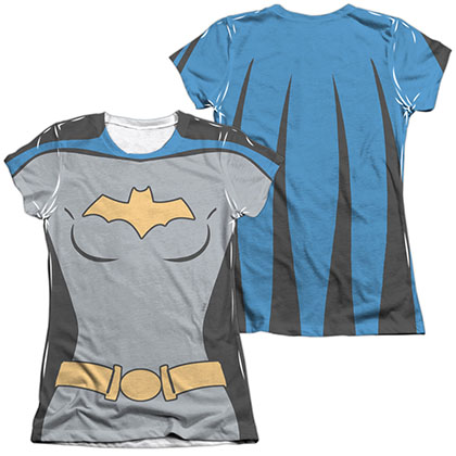 Batman Animated Series Batgirl Costume Sublimation Juniors T-Shirt