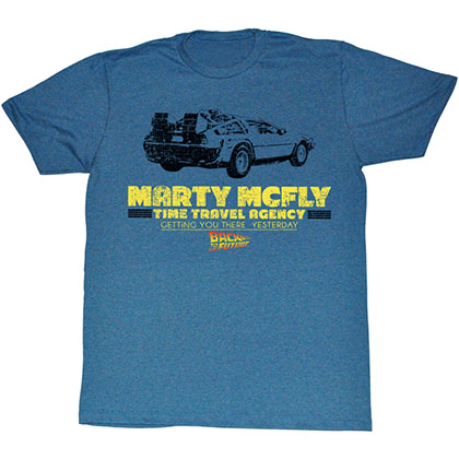 Back To The Future Time In A Car T-Shirt
