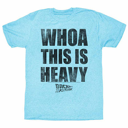Back To The Future Heavy Blue Tee Shirt