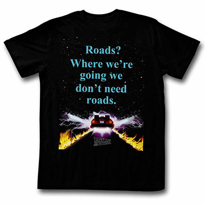 Back To The Future Noroads Black Tee Shirt