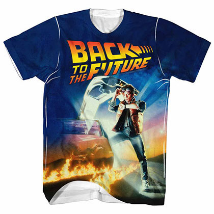 Back To The Future All Over White T-Shirt