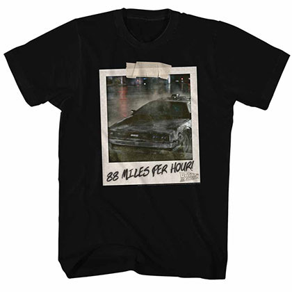 Back To The Future 88 Mph! Black Tee Shirt