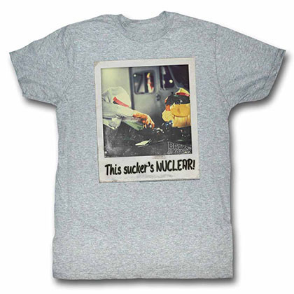Back To The Future Nuculer Gray Tee Shirt