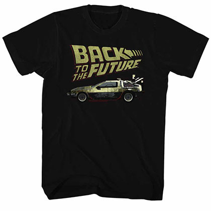 Back To The Future Btf Black Tee Shirt