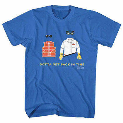 Back To The Future Gotta Get Back Blue Tee Shirt