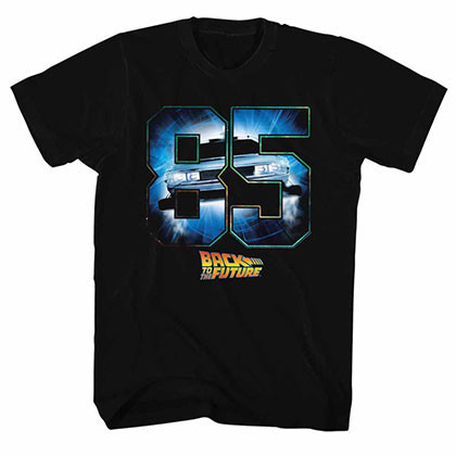 Back To The Future Eighty Five Black TShirt