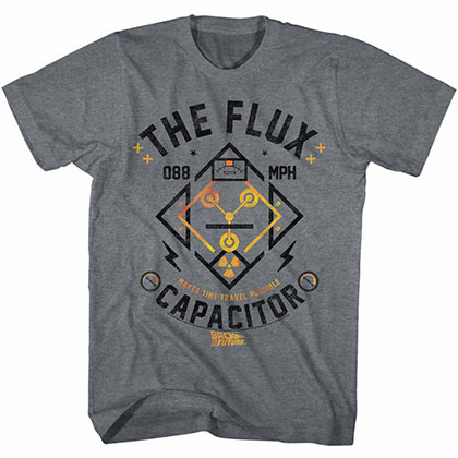 Back To The Future Flux Streetwear Gray T-Shirt