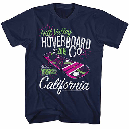 Back To The Future Hoverco Blue Tee Shirt