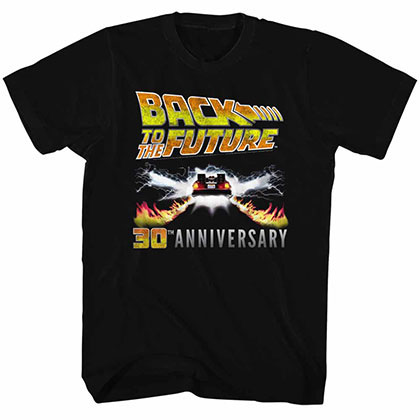Back To The Future 30Th Anniversary Black Tee Shirt