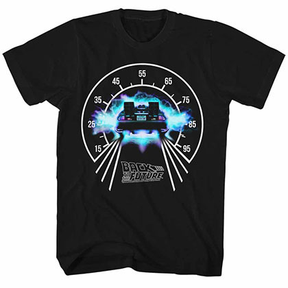 Back To The Future Speedometer Black Tee Shirt