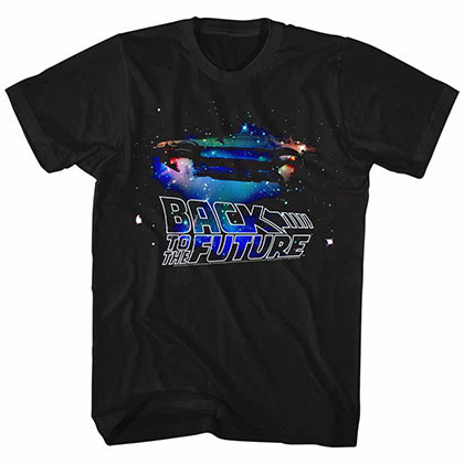 Back To The Future Galaxy Black T-Shirt