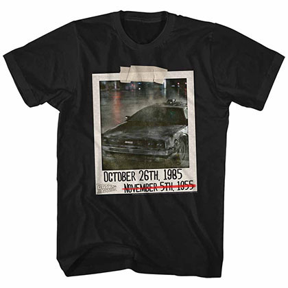 Back To The Future 2 Places Black Tee Shirt