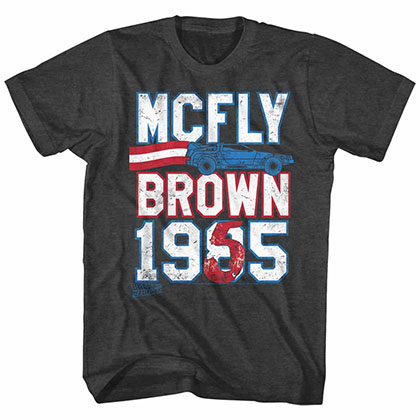 Back To The Future Marty For Prez Black Tee Shirt