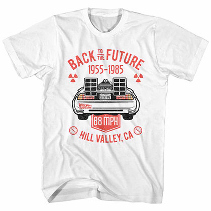 Back To The Future Vintage Dmc Back White Tee Shirt