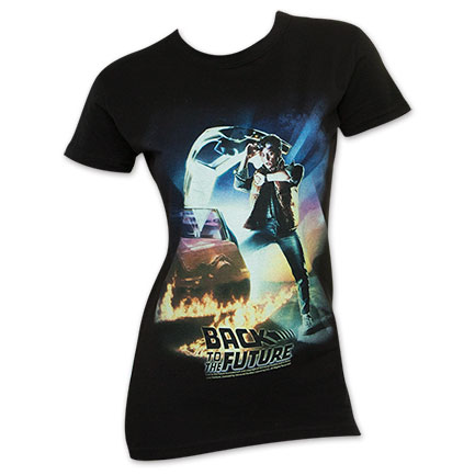 Back To The Future Women's Movie Poster Tee Shirt
