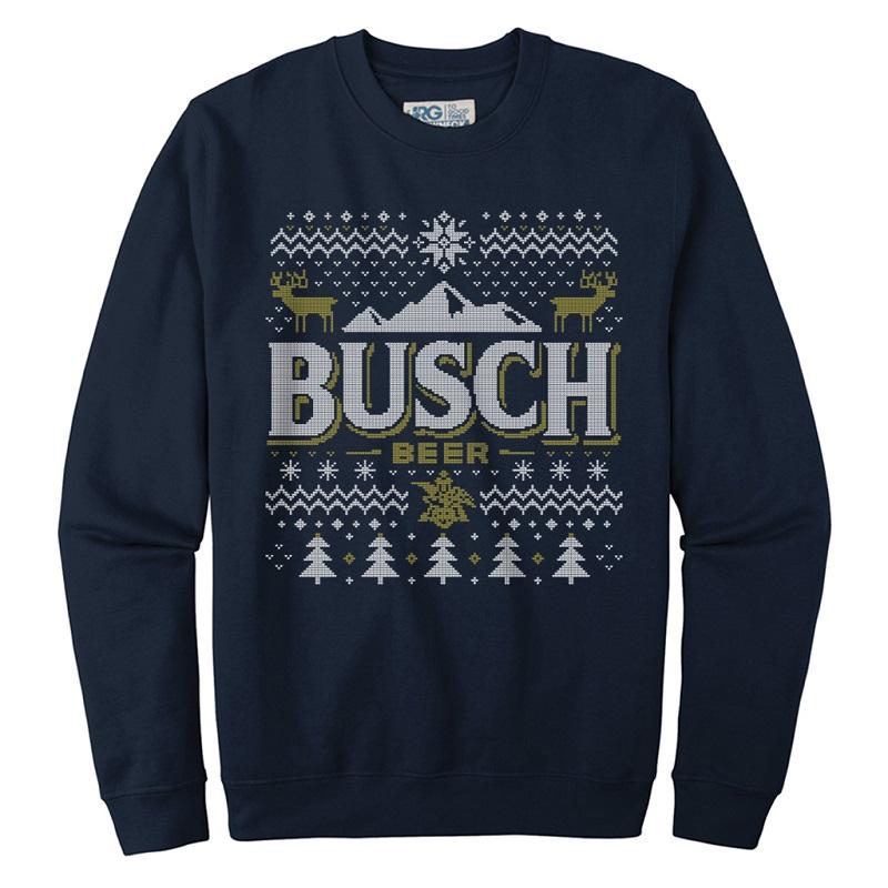 Busch Ugly Christmas Sweater Design Crewneck Sweatshirt