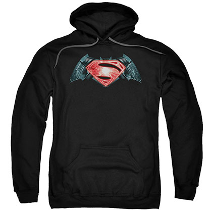 Batman v Superman Industrial Logo Black Pullover Hoodie